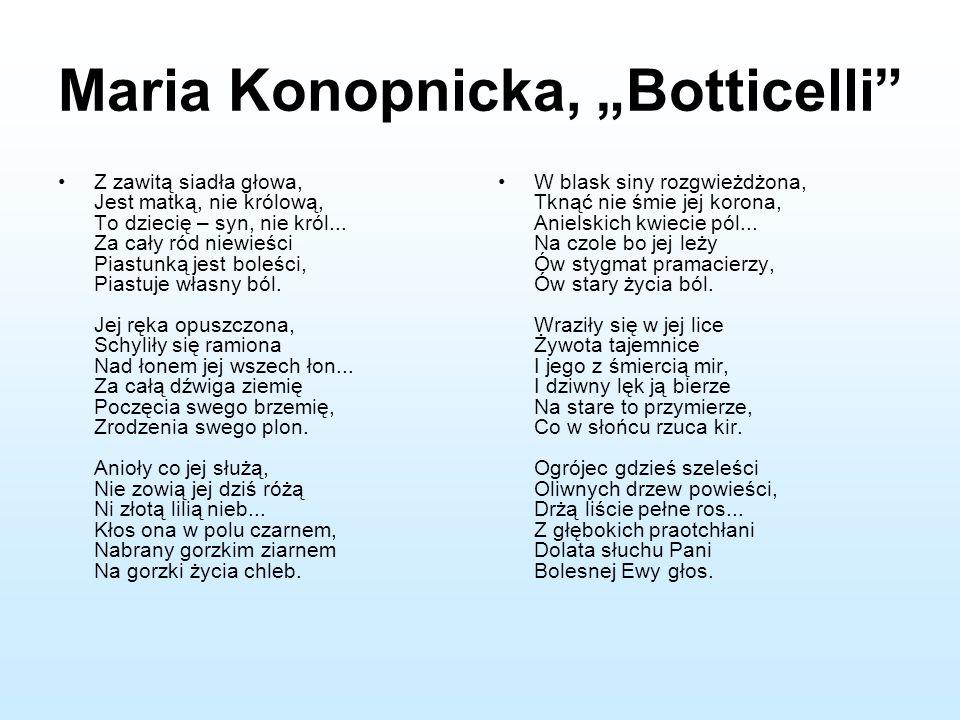 "Maria Konopnicka, ""Botticelli"