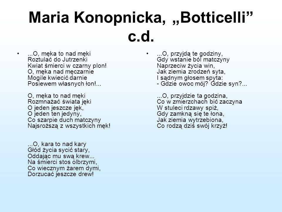 """Maria Konopnicka, """"Botticelli c.d."""