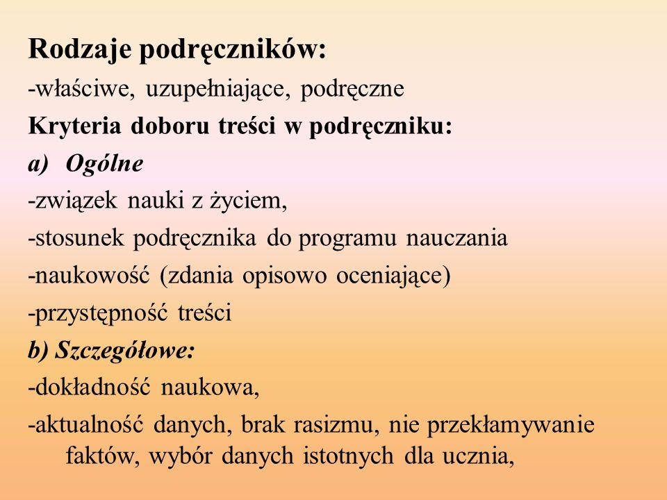 Rodzaje podręczników: