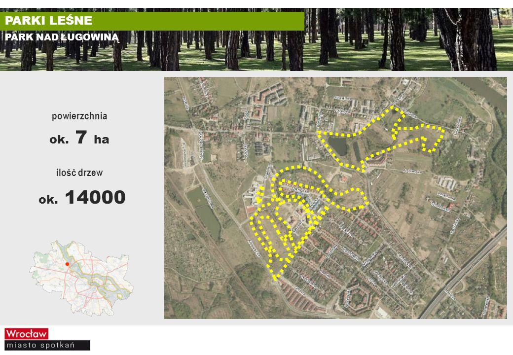ok. 14000 PARKI LEŚNE ok. 7 ha powierzchnia ilość drzew
