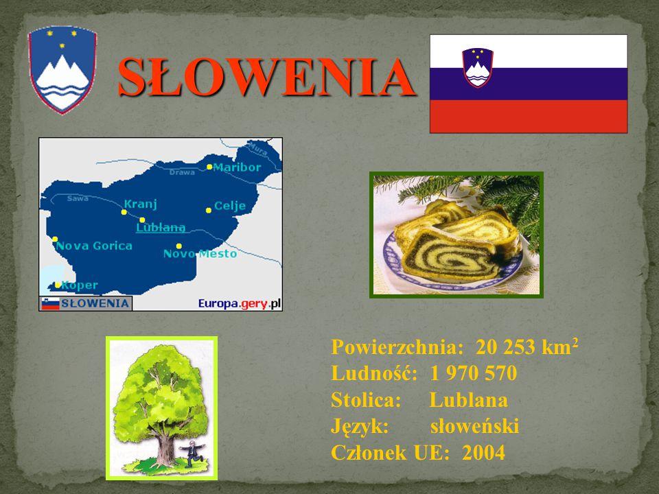 SŁOWENIA Powierzchnia: 20 253 km2 Ludność: 1 970 570 Stolica: Lublana