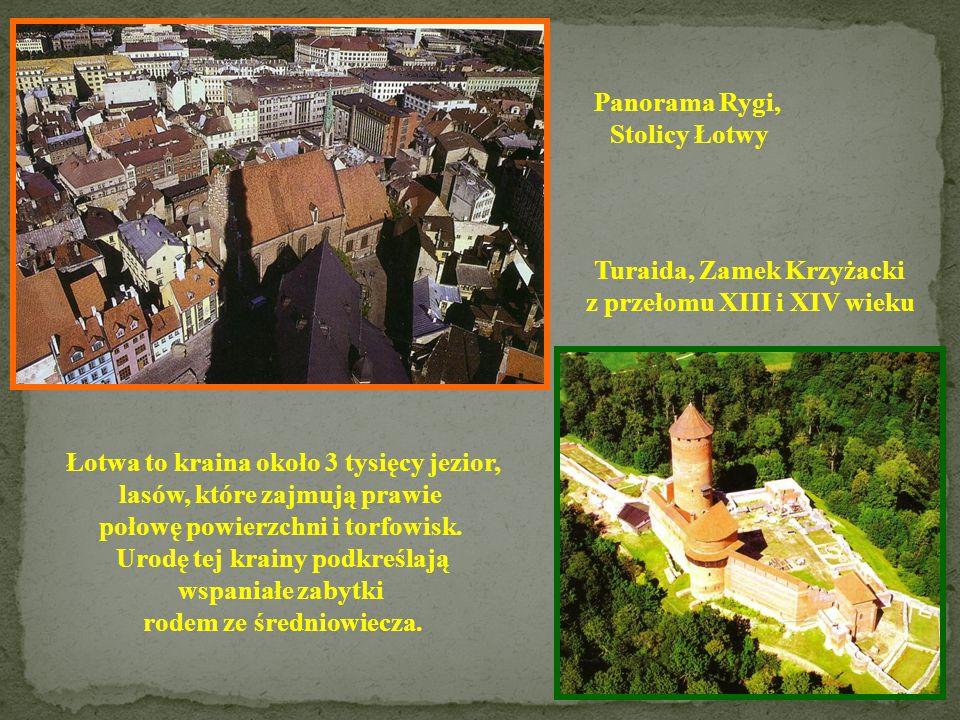 Turaida, Zamek Krzyżacki z przełomu XIII i XIV wieku