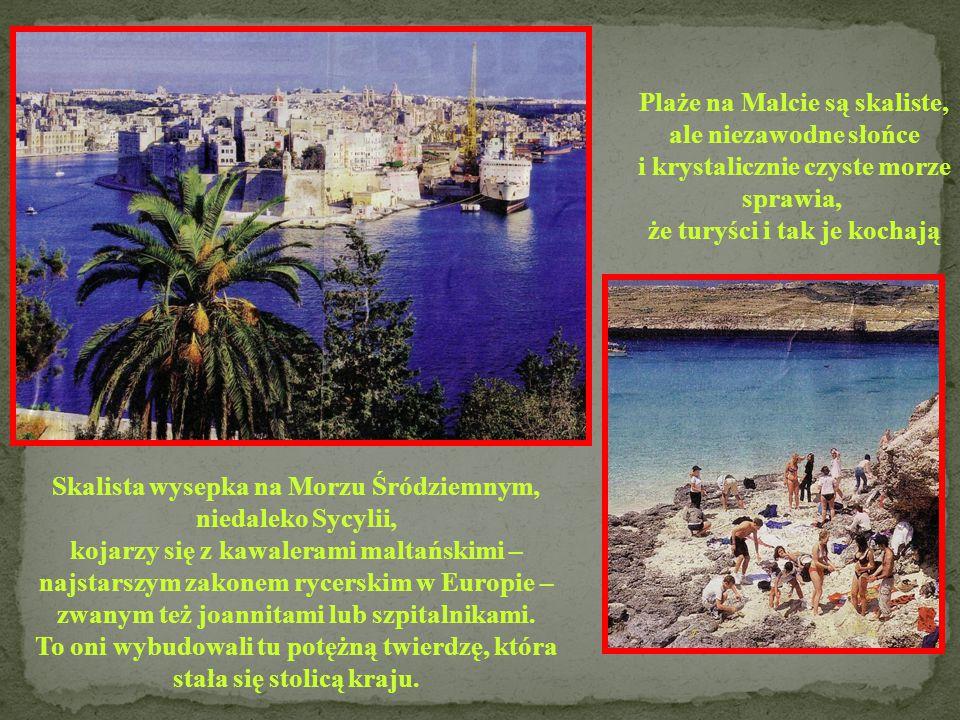 Plaże na Malcie są skaliste, ale niezawodne słońce
