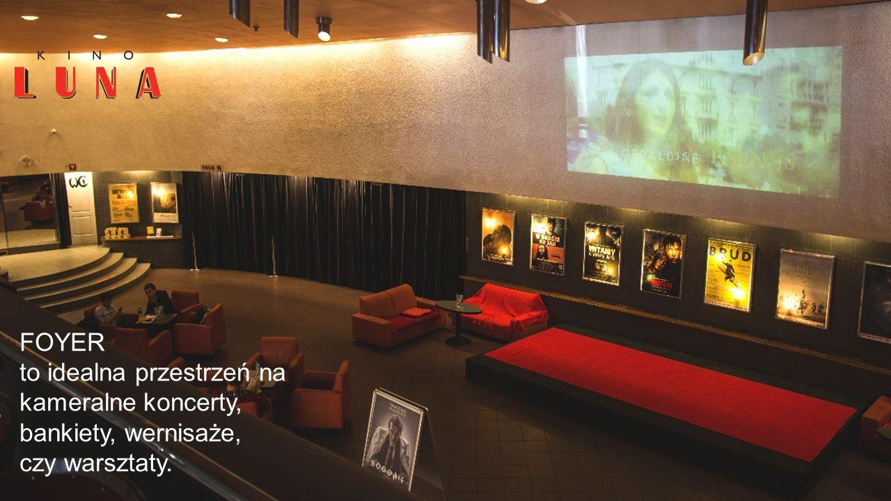 FOYER to idealna przestrzeń na kameralne koncerty, bankiety, wernisaże, czy warsztaty.