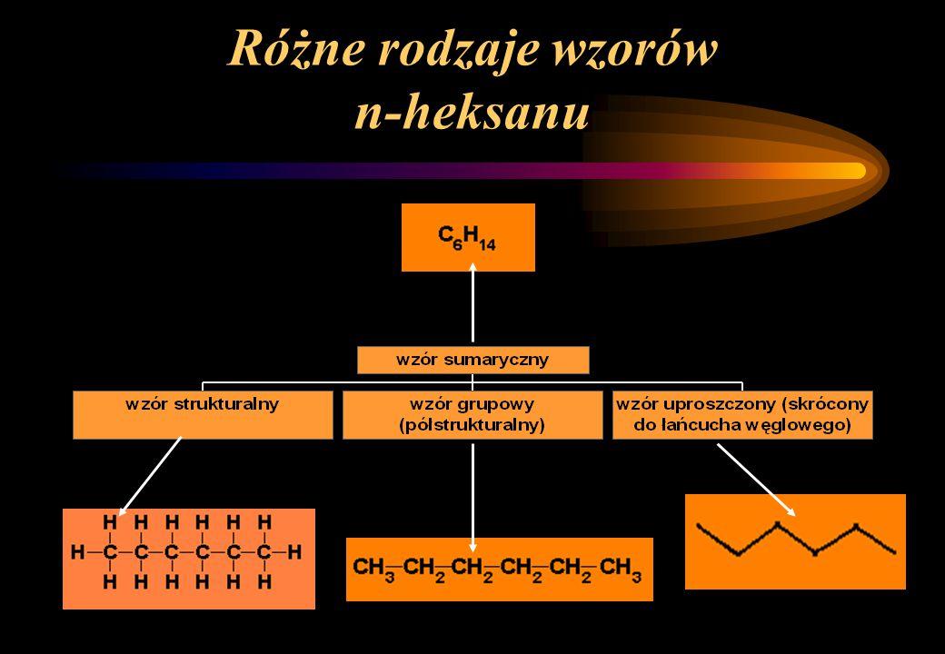 Różne rodzaje wzorów n-heksanu