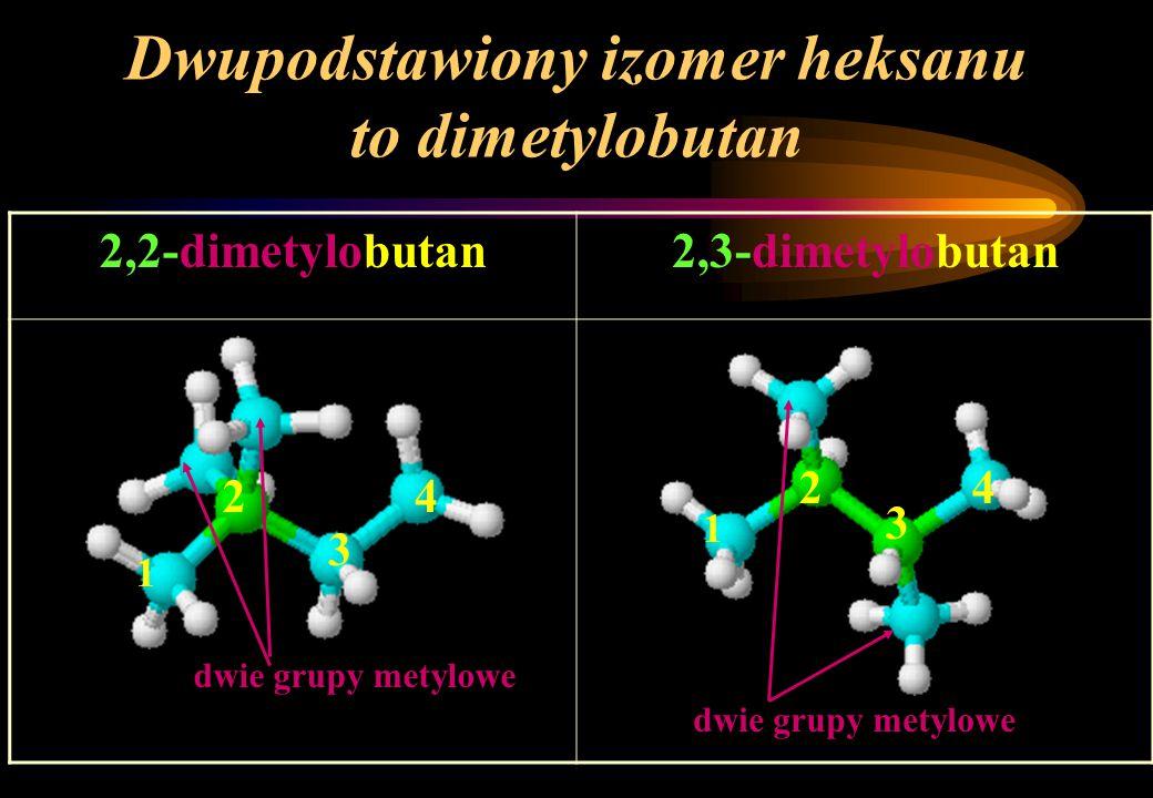 Dwupodstawiony izomer heksanu to dimetylobutan