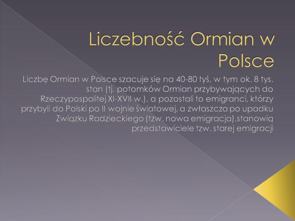 Liczebność Ormian w Polsce