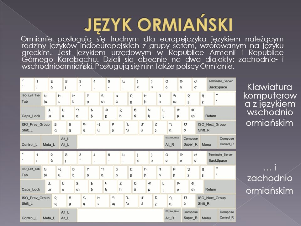 Klawiatura komputerowa z językiem wschodnio