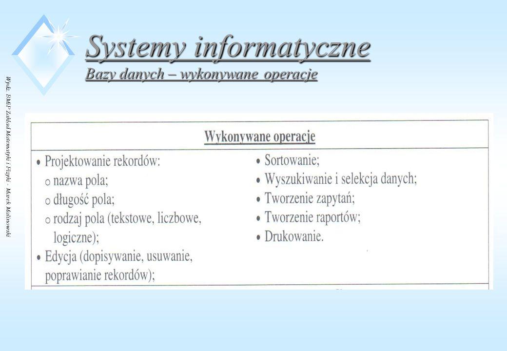 Systemy informatyczne