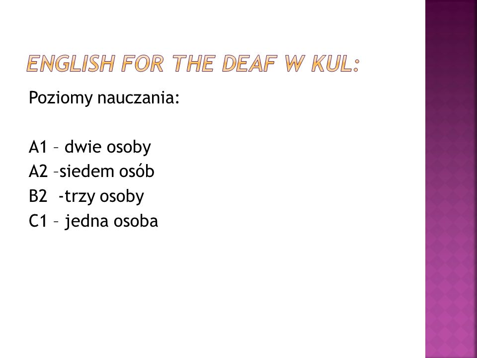 English for the Deaf w kul: