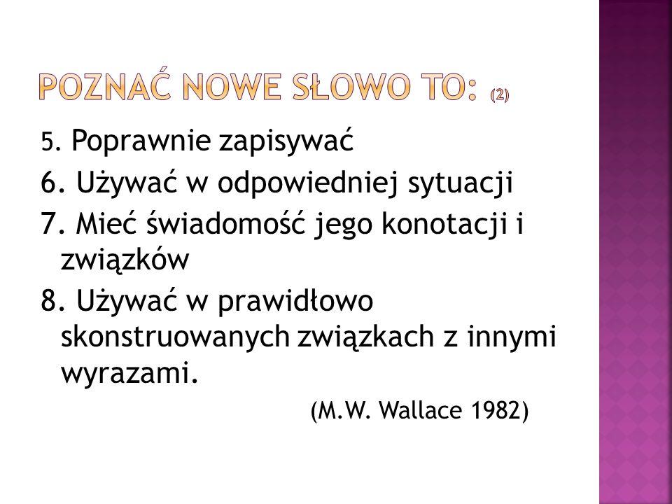 poznać nowe słowo to: (2)