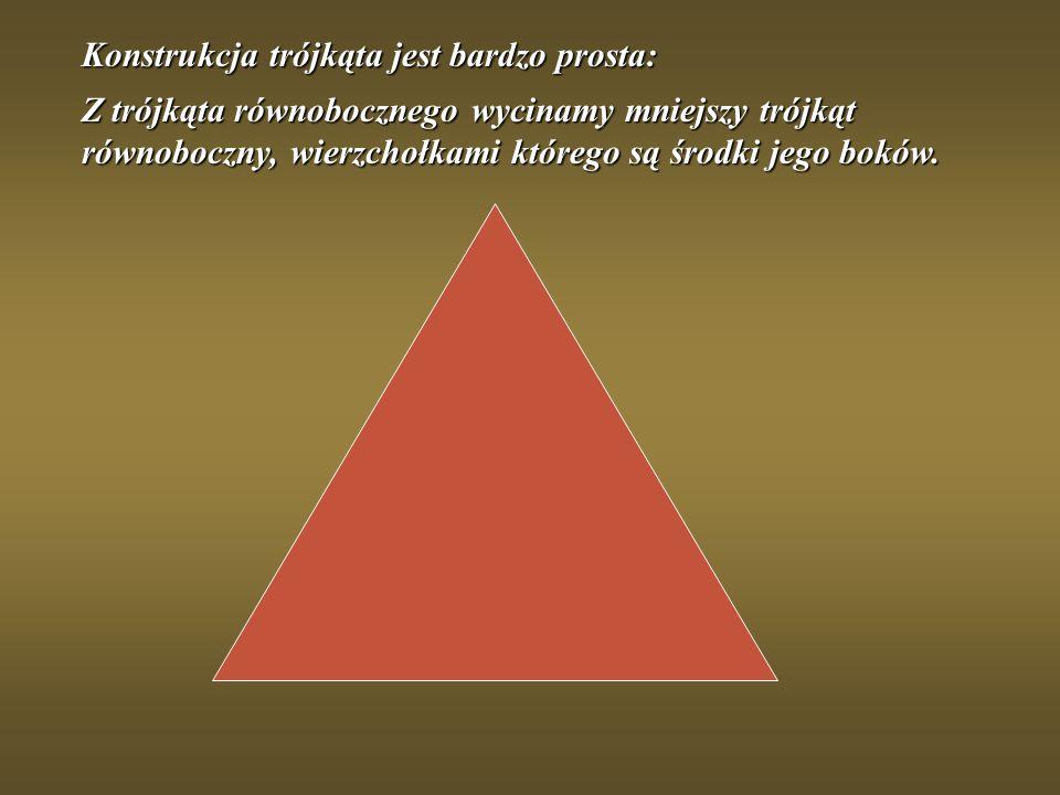 Konstrukcja trójkąta jest bardzo prosta: