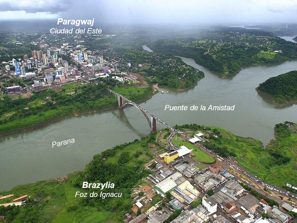Paragwaj Brazylia Ciudad del Este Puente de la Amistad Parana