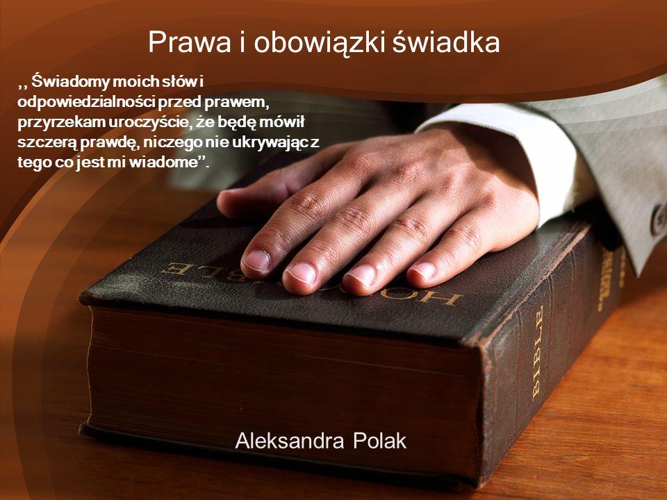 Prawa i obowiązki świadka