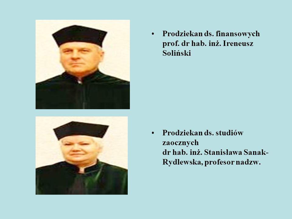 Prodziekan ds. finansowych prof. dr hab. inż. Ireneusz Soliński