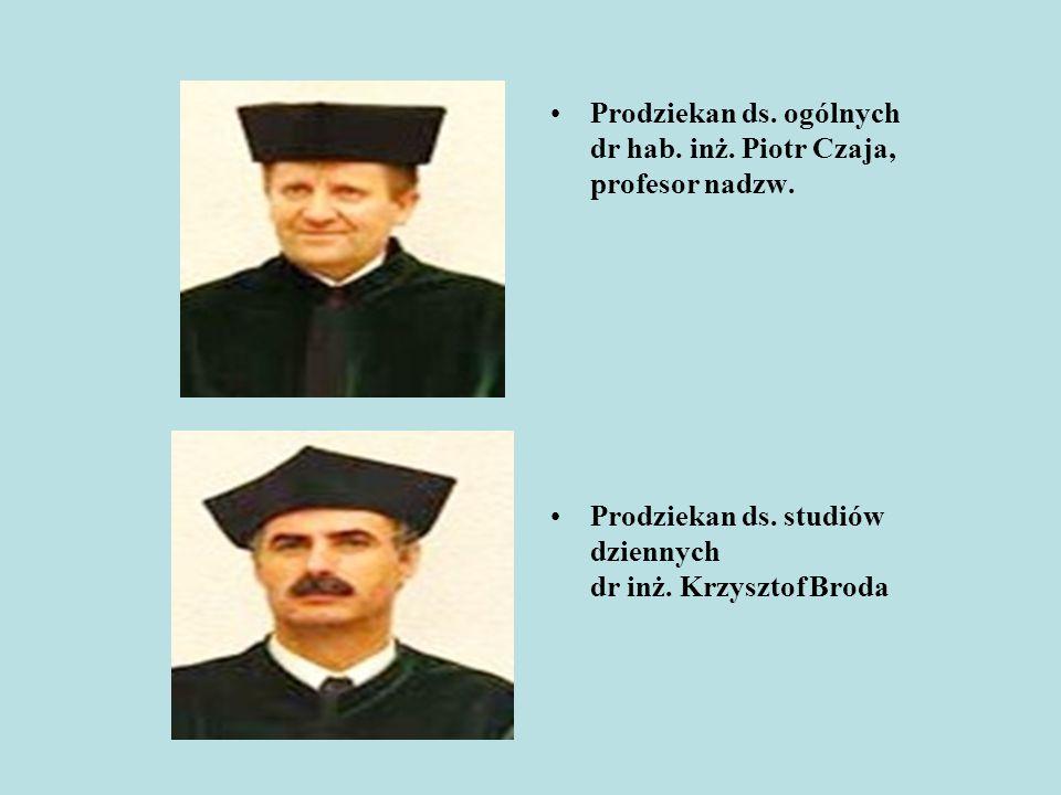 Prodziekan ds. ogólnych dr hab. inż. Piotr Czaja, profesor nadzw.