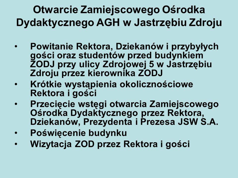 Otwarcie Zamiejscowego Ośrodka Dydaktycznego AGH w Jastrzębiu Zdroju