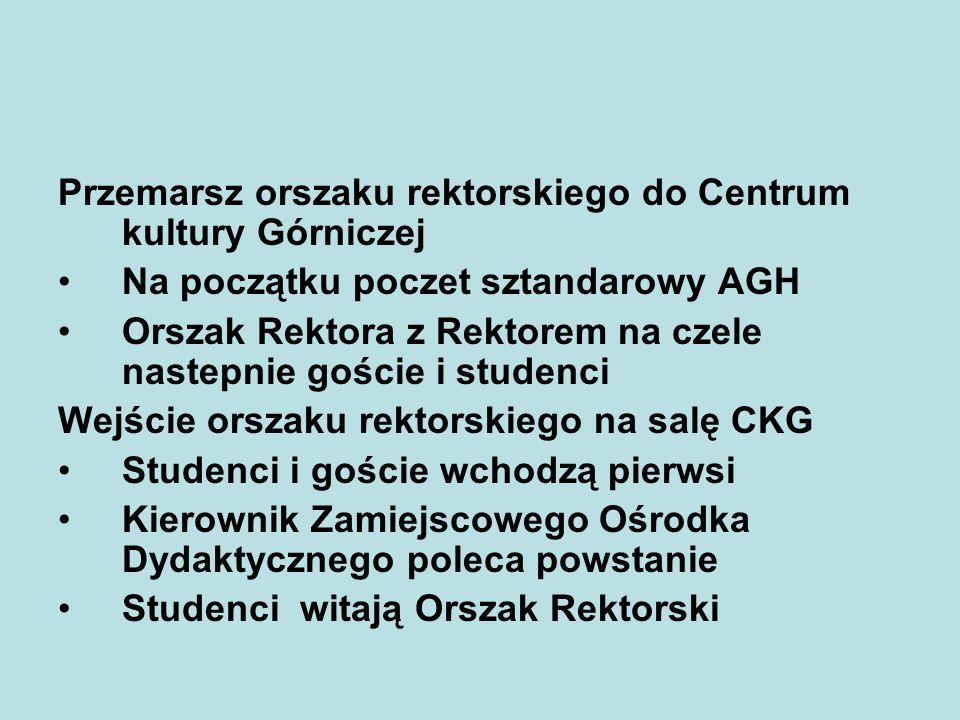 Przemarsz orszaku rektorskiego do Centrum kultury Górniczej