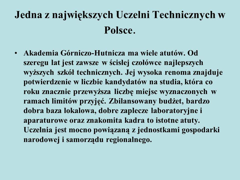Jedna z największych Uczelni Technicznych w Polsce.