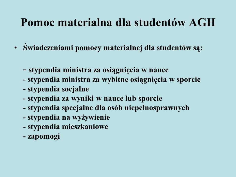 Pomoc materialna dla studentów AGH