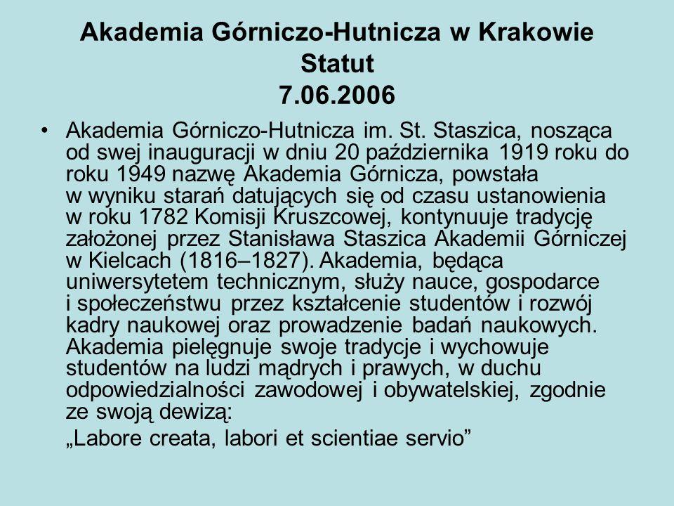 Akademia Górniczo-Hutnicza w Krakowie Statut 7.06.2006