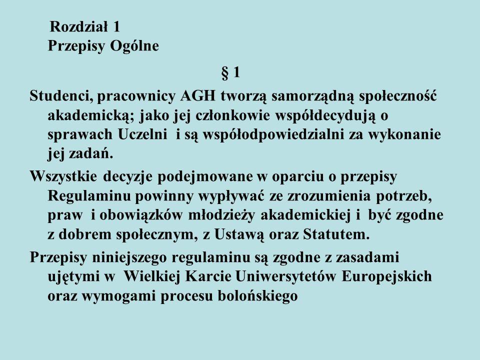 § 1 Rozdział 1 Przepisy Ogólne