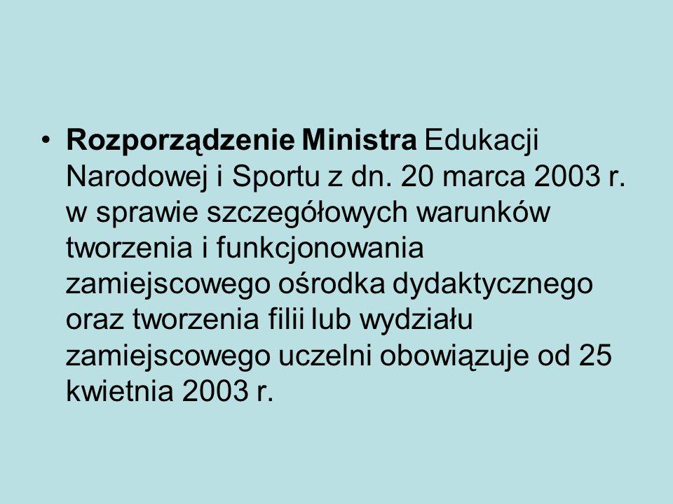 Rozporządzenie Ministra Edukacji Narodowej i Sportu z dn