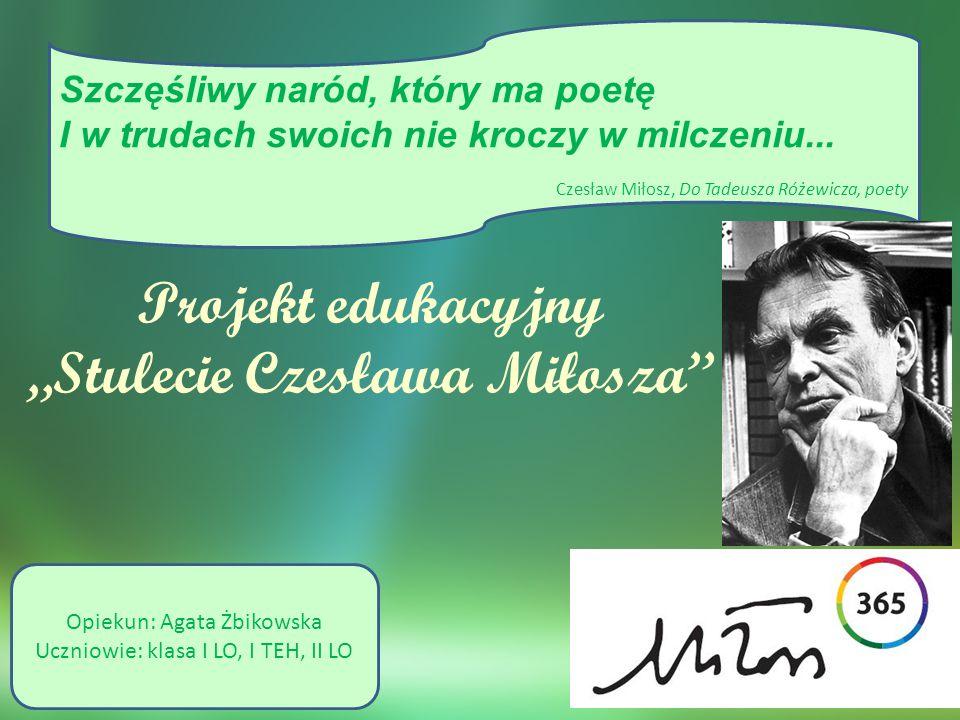 """""""Stulecie Czesława Miłosza"""