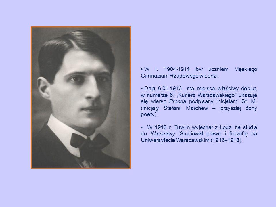 W l. 1904-1914 był uczniem Męskiego Gimnazjum Rządowego w Łodzi.