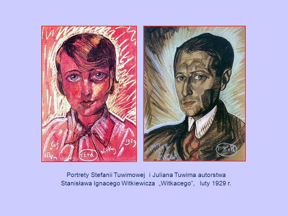 """Portrety Stefanii Tuwimowej i Juliana Tuwima autorstwa Stanisława Ignacego Witkiewicza """"Witkacego , luty 1929 r."""