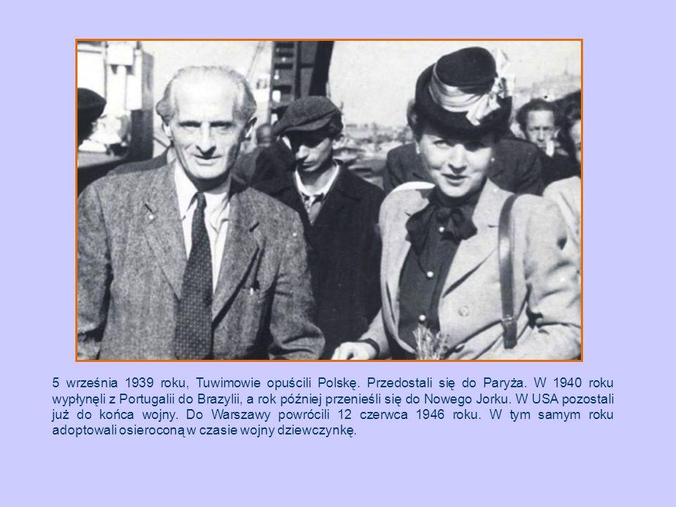 5 września 1939 roku, Tuwimowie opuścili Polskę