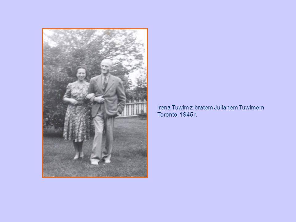 Irena Tuwim z bratem Julianem Tuwimem Toronto, 1945 r.