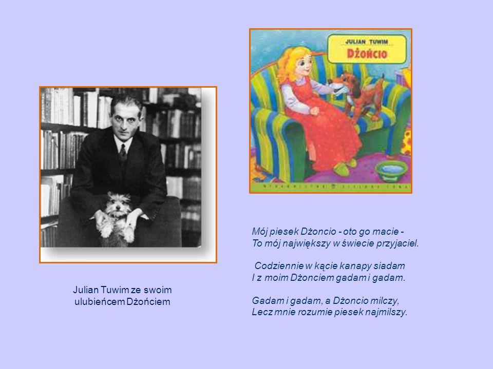 Julian Tuwim ze swoim ulubieńcem Dżońciem