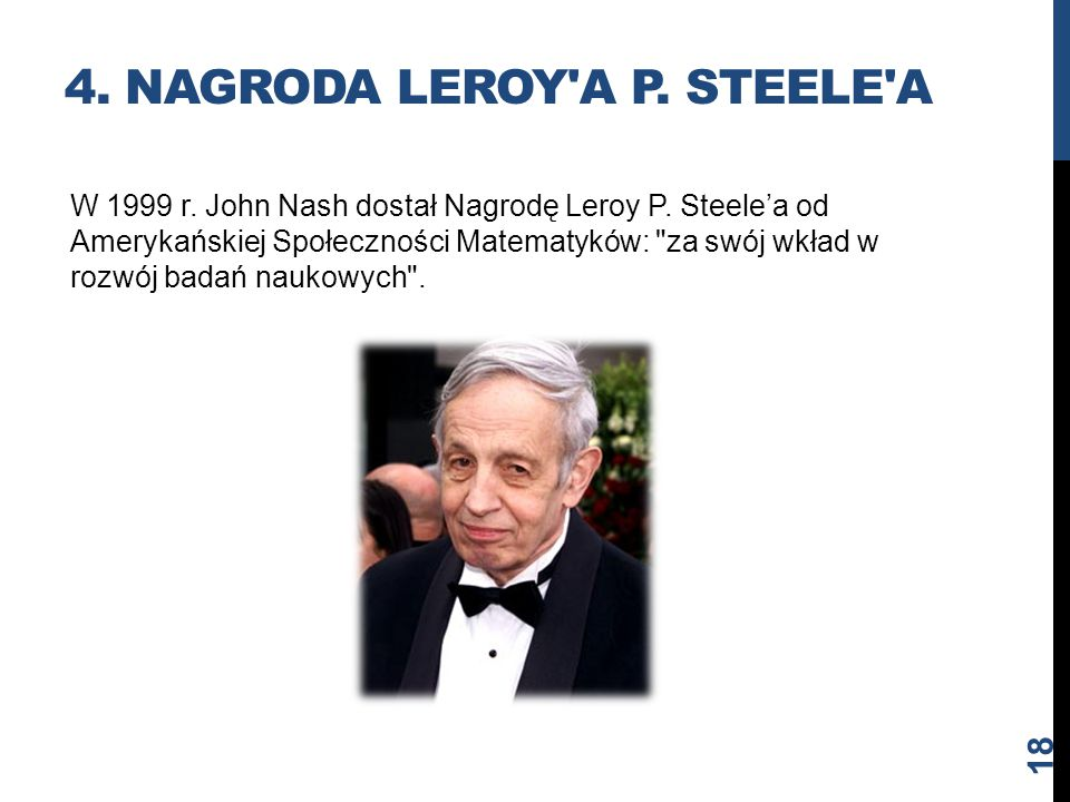 4. Nagroda Leroy a P. Steele a