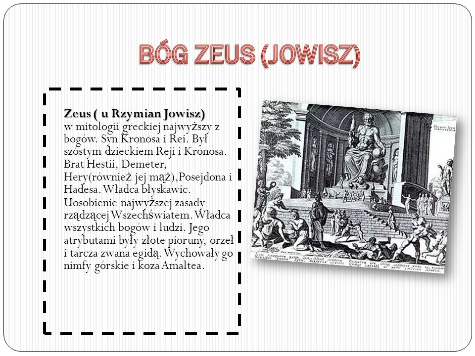 BÓG ZEUS (JOWISZ)