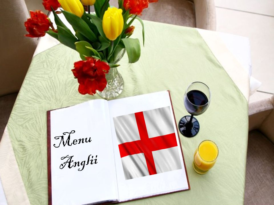 Menu Anglii