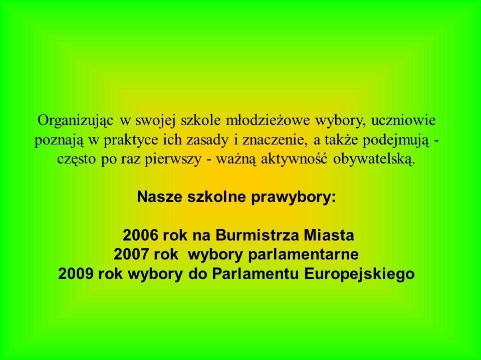 Nasze szkolne prawybory: 2006 rok na Burmistrza Miasta