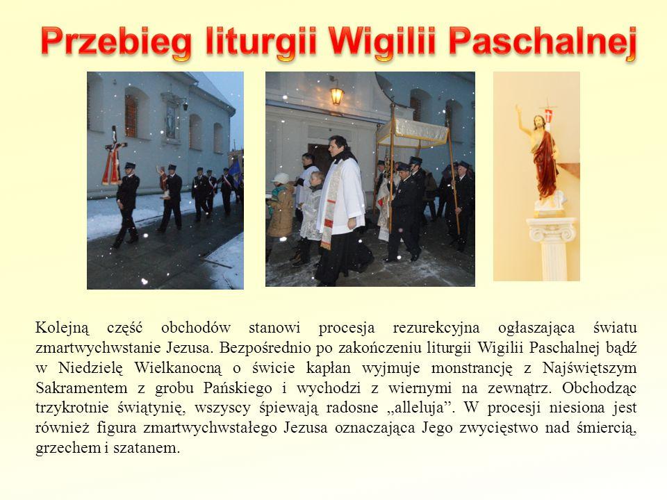 Przebieg liturgii Wigilii Paschalnej