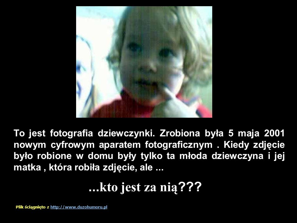 To jest fotografia dziewczynki