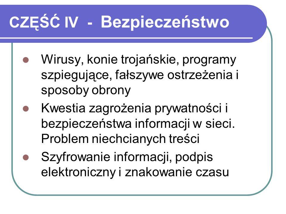 CZĘŚĆ IV - Bezpieczeństwo