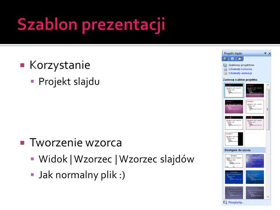 Szablon prezentacji Korzystanie Tworzenie wzorca Projekt slajdu