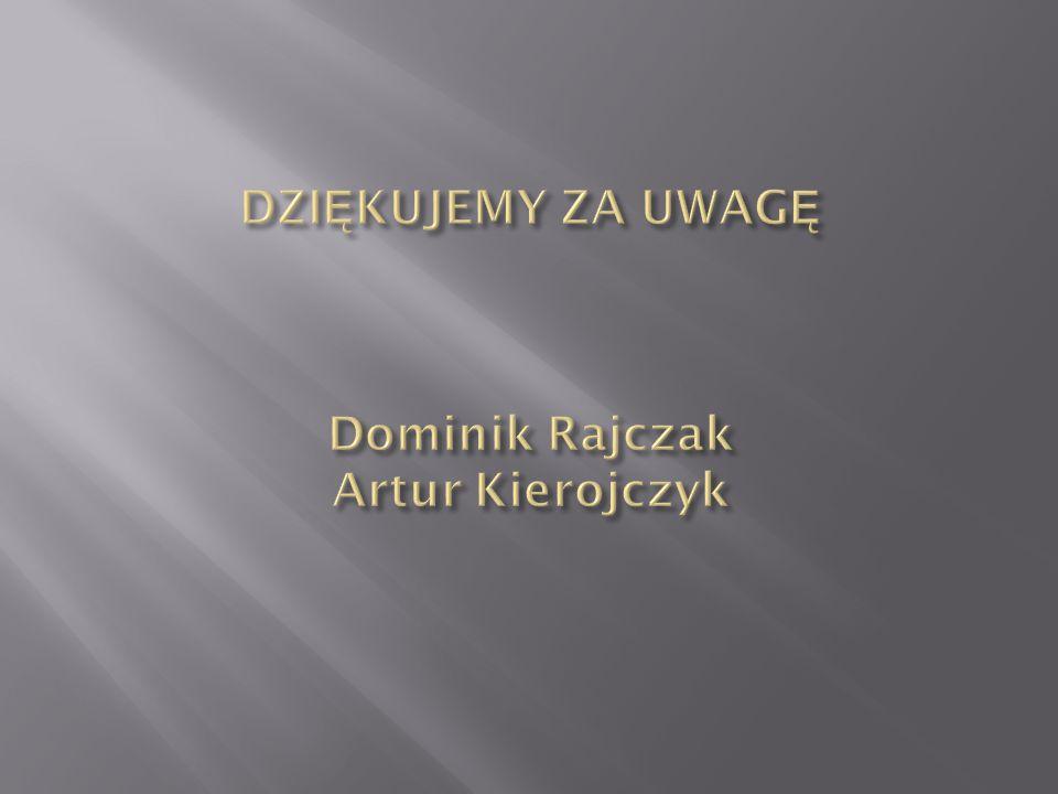 DZIĘKUJEMY ZA UWAGĘ Dominik Rajczak Artur Kierojczyk