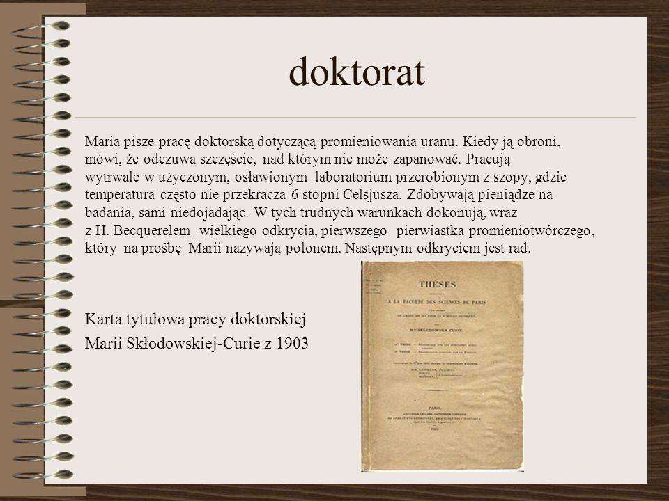 doktorat Karta tytułowa pracy doktorskiej