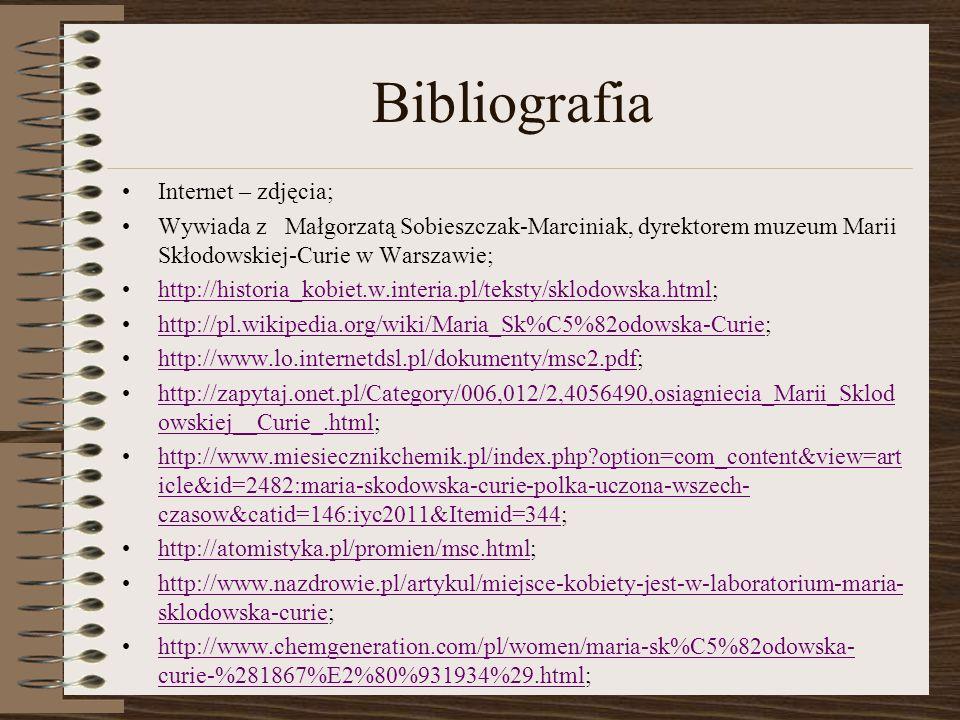 Bibliografia Internet – zdjęcia;