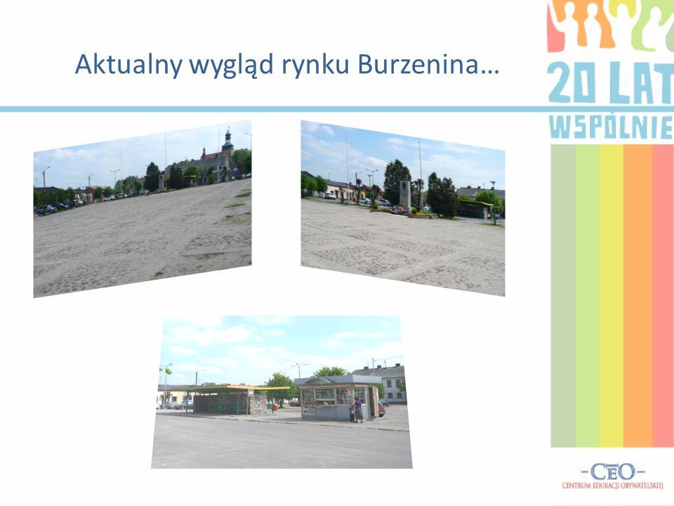 Aktualny wygląd rynku Burzenina…