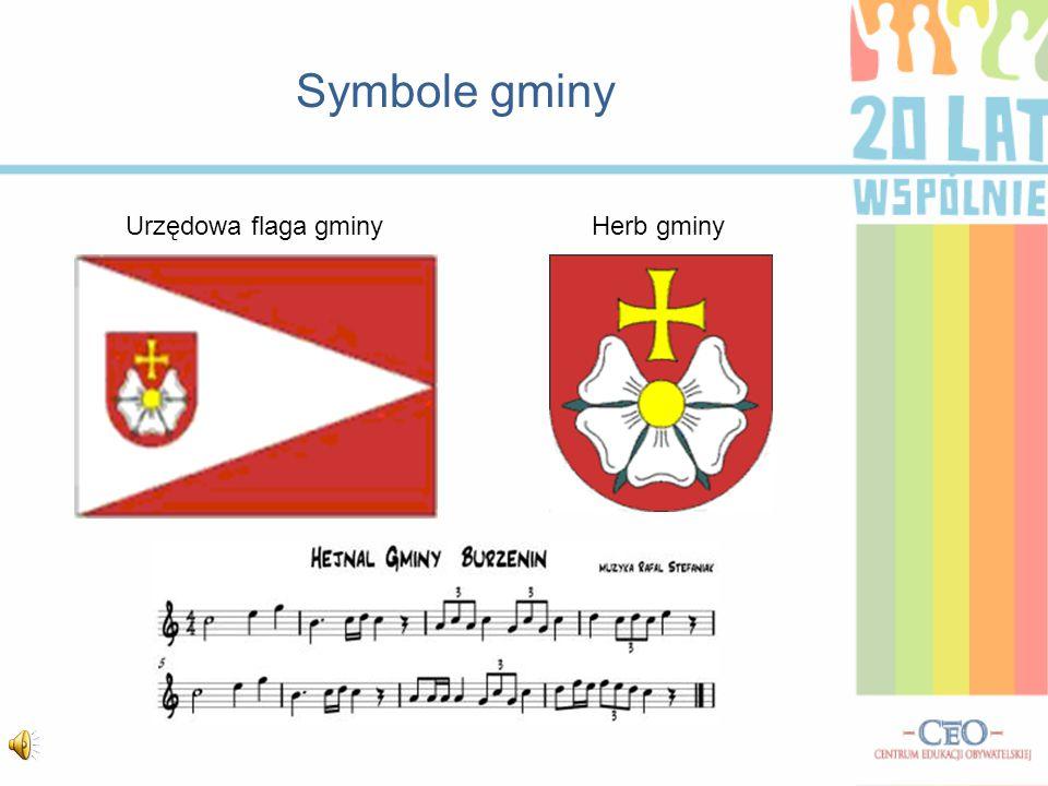Symbole gminy Urzędowa flaga gminy Herb gminy