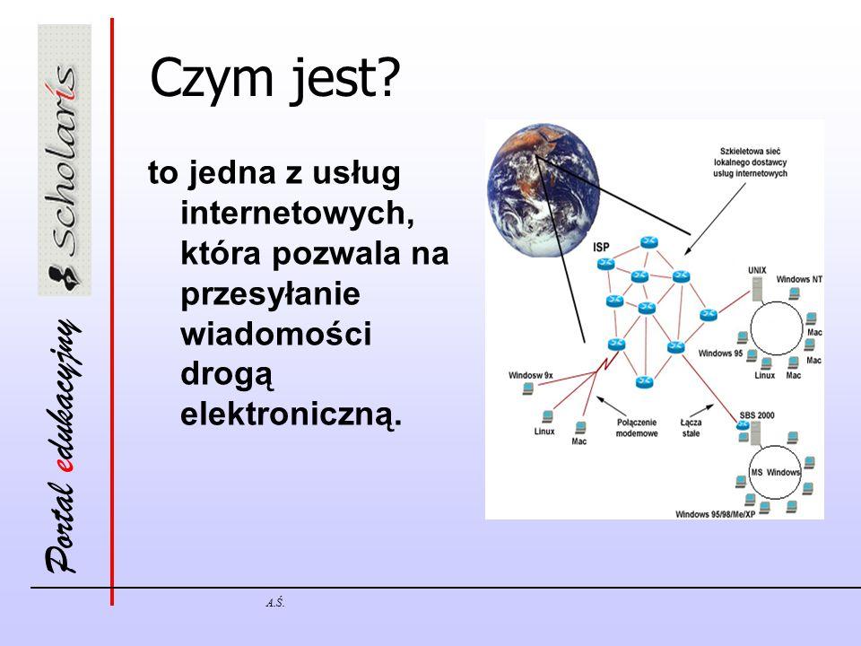 Czym jest to jedna z usług internetowych, która pozwala na przesyłanie wiadomości drogą elektroniczną.