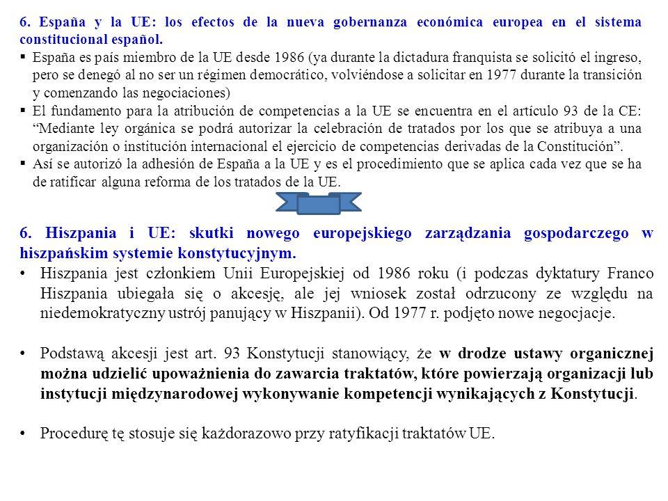 Procedurę tę stosuje się każdorazowo przy ratyfikacji traktatów UE.
