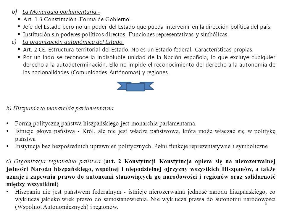 La Monarquía parlamentaria.-