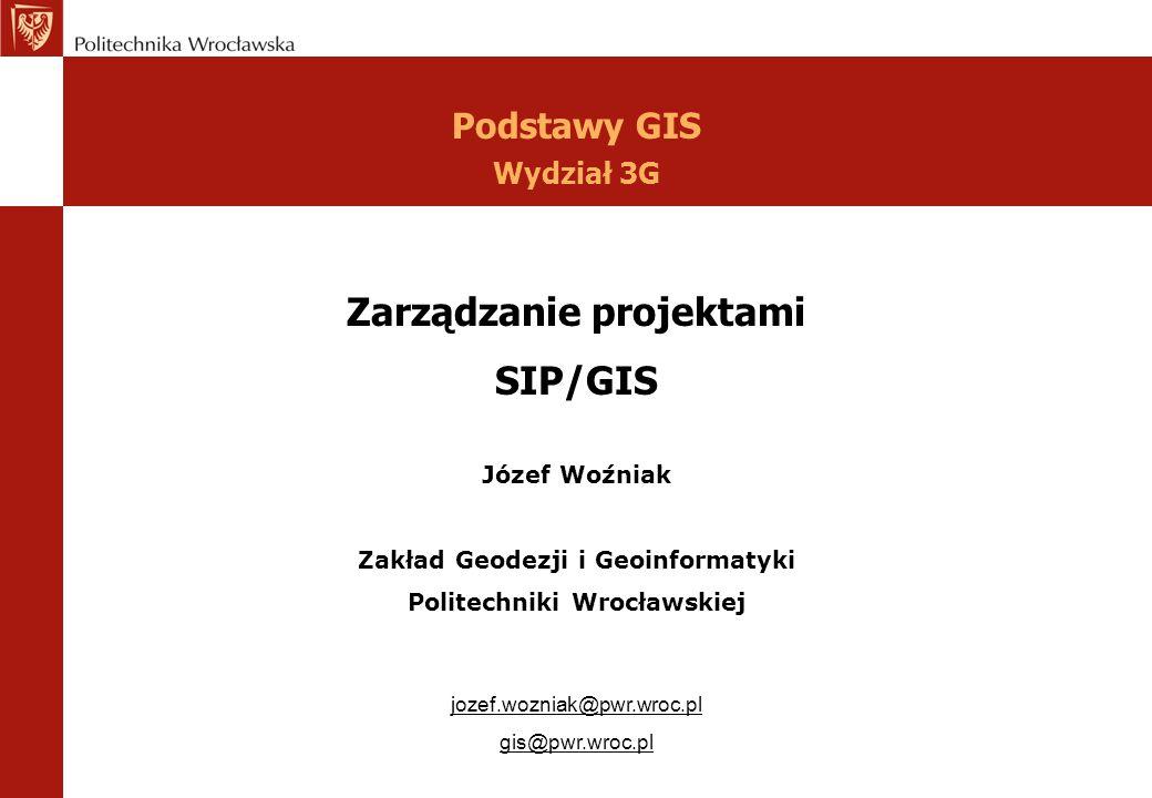 Zarządzanie projektami SIP/GIS
